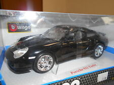 BBU12030 by BBURAGO PORSCHE 911 TURBO GOLD COLLECTION 1:18