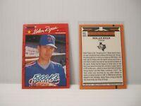 1990 Donruss Nolan Ryan Baseball Cards # 659 & 665 Error Set Wrong Backs