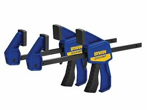 """Irwin Tool Pack Of 2 Quick Grip Mini One-Handed 6"""" Bar Clamp Woodworking Hobby"""
