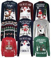 Christmas Jumpers New Novelty 3D Xmas Knit Santa Funny Beer Cracker Advent Tree