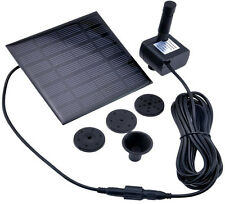 1.2W Solar Panel Power Pump for Garden Pool 45CM Height Water Feature