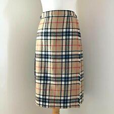 Pitlochry Pleated Skirt Kilt Size 6 8 W 26 27 100% Wool Checked Nova Check