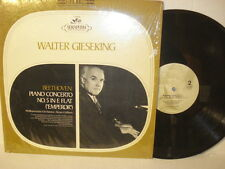 WALTER GIESEKING BEETHOVEN PIANO CONCERTO No. 5 in E Flat-  LP Record Album