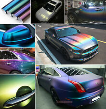 Hot Chameleon Stretch Glossy Satin Chrome Pearl Metal Vinyl Wrap Auto Sticker US