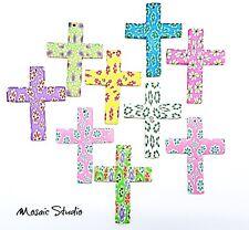 Polymer Crosses - x  9pc 60x45mm