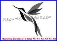 Humming Bird Reusable Stencil 6 Sizes 350 micron Mylar not thin stuff HBRD01