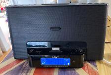 Sony iPhone/iPod Radio Speaker Dock Clock ICF-CS15iP Dream Machine Excellent CDN