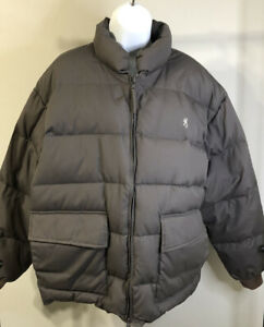 Browning Men's Full Zip Puffer Down Jacket Size XL Brown Taupe