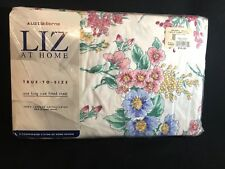 "Vintage Liz Claiborne At Home King Fitted Sheet NIP ""Field Of Flowers"" Cotton"