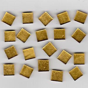 20pcs Oro Smooth Gold Smalti 10.202P Glass Mosaic Tiles 1x1cm 1st Quality