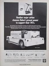 6/1969 PUB HOBART GROUND POWER SUPPORT UNITED BOEING 747 AIRPORT ORIGINAL AD