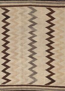 Reversible Chevron Modern Kilim Oriental Area Rug Hand-woven Foyer Carpet 5'x7'
