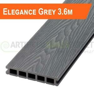 10 GREY COMPOSITE DECKING BOARDS - 5SQM COVERAGE-  END OF BATCH - 3.6M LENGTHS