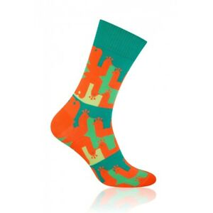 PEACOCK Mens Coloured Cotton Rich Socks, Colourful Socks, Fun Socks