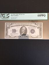 Fr 1704*   1934C $10 Silver Certificate Star Note Fr. 1704* PCGS 64PPQ.