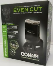 N) Conair Even Cut for Men HCG100 Cordless Rechargeable Shave Clipper Trimmer