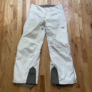 Men's Prada Chalk White Gray Gore Tex Winter Snowboarding Snow Ski Pants Sz 50 M