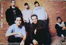 """LINKIN PARK """"GROUP STANDING IN FRONT OF BRICK WALL"""" ASIAN MUSIC POSTER -Nu Metal"""
