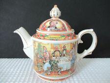Vintage SADLER ENGLAND Teapot CHARLES DICKENS A CHRISTMAS CAROL Preowned