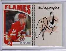 JIM PEPLINSKI 04/05 ITG Franchises Canadian Auto Autograph A-JPE Calgary Flames