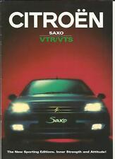 CITROEN SAXO VTR AND VTS SALES BROCHURE 1997