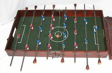 Vintage Wooden Traveling Foosball Game Table Suitcase
