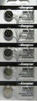 386 Button Cell Silver Oxide 1.55V Energizer Batteries X 5