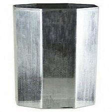 """OCTAGON Seamless Aluminum Candle Molds 3"""" x 3-1/2"""" (Lot of 4)"""