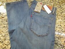 NEW LEVIS 511 SLIM FIT DESTROYED JEANS MENS 30X30 045111316 FREE SHIP