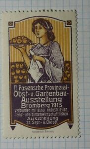Fruit & Horticultural Assn Exhibition Provinzial Germany Expo Poster Stamp Ads