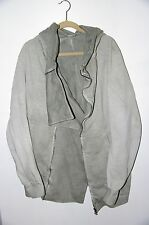 $850 Julius Ghost Collection Hooded Zipped Cotton Jacket