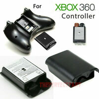 Black AA Battery Back Cover Case Shell Pack For Xbox 360 Wireless Controller USA