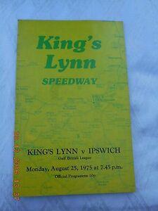 KINGS LYNN v IPSWICH   25 AUGUST 1975