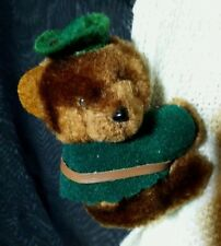 Vintage Dakin Plush Robin Hood Bear Clip-on toy Huggy 1985 Korea Hugger stuffed
