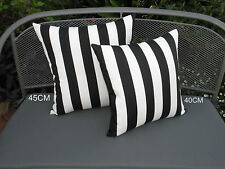 Outdoor Black & White Classic Stripe Cushion Cover 2 sizes AU Made