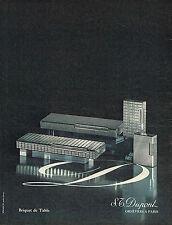 PUBLICITE ADVERTISING 035  1971  DUPONT  orfèvre  LES BRIQUETS DE TABLE