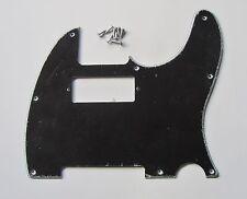 Tele Guitar Pickguard Telecaster Scratch Plate w/ Mini Humbucker Black 3 Ply