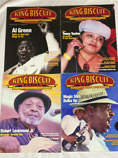 Lot of 4 KING BISCUIT TIME blues music magazine - TEENY SLIM LOCKWOOD AL GREEN