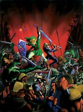 Poster A3 The Legend Of Zelda Ocarina Of Time Sheik Link 01