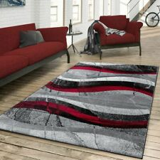 Modern Rug Living Room Shabby Chic Abstract Rugs Novelty Bedroom Carpet Grey Red