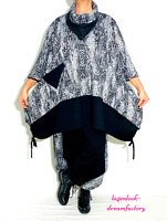 MYO-Lagenlook A-Linie-Long-Shirt Mustermix SNAKE-PUNTA 44,46,48,50,52,54,56