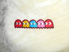 Sewing craft.clothing.applique.game pacman ghost embroided iron opatch 11x2.3cm