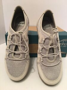 NEW DANSKO IVORY Holland Suede Mesh Bungee Lace Up Sneakers EU 37 US 6.5 - 7