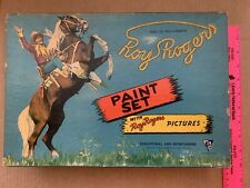 1941 King Of The Cowboys Roy Rogers Paint Set By Standard Toykraft Products Inc.