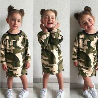 Toddler Infant Kid Baby Girl Camouflage Dress Princess Dress Outfit Clothes