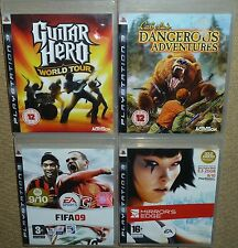 JOB LOT SONY PS3 GAMES Mirrror Edge Cabela Dangerous Adventure Guitar Hero FIFA