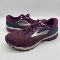 Brooks Womens Ghost 10 1202461B511 Purple Running Shoes Lace Up Low Top Sz 10.5