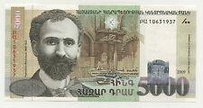 Armenia 5000 Dram 2009 Pick 51.c UNC Banknote Uncirculated
