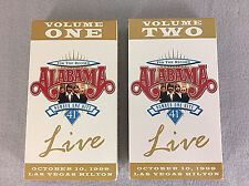 Alabama For The Record 2 Volume Live VHS Video Tapes 41 Number One Hits