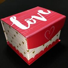 Love, Valentine'S Day, Glittered Flip Top Goody, Gift Box, W/Hearts, Larger Box